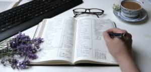 Bullet Journal für Autoren